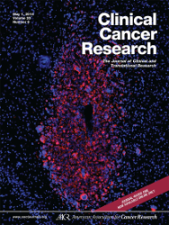 Cover image from Clinical Cancer Research (journal)