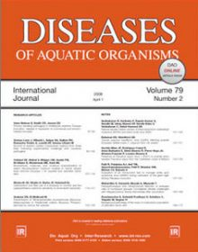 Cover image from Diseases of Aquatic Organisms (journal)