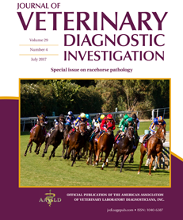 Cover image from the Journal of Veterinary Diagnostic Investigation