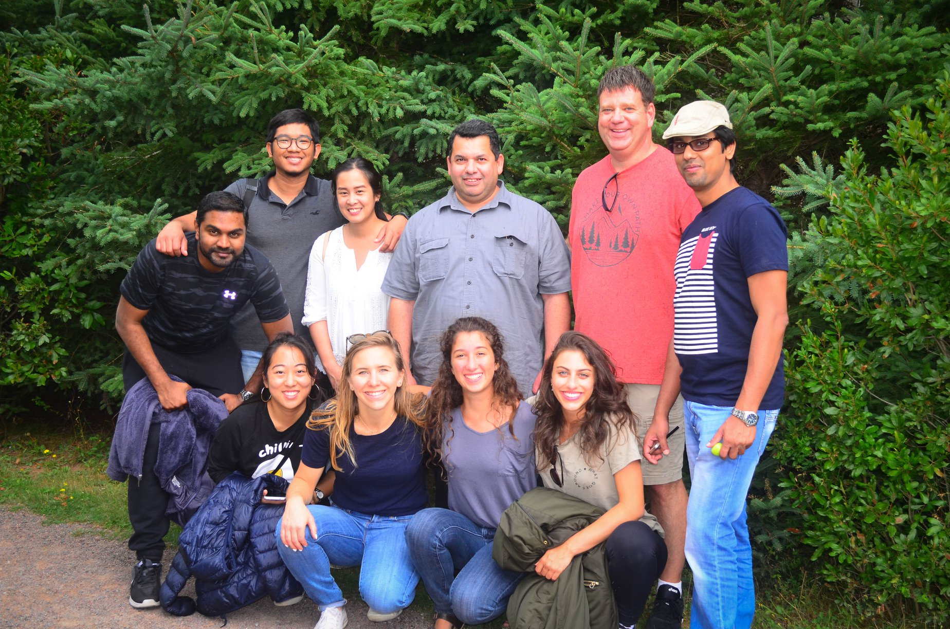 Image of a group of researchers standing outdoors